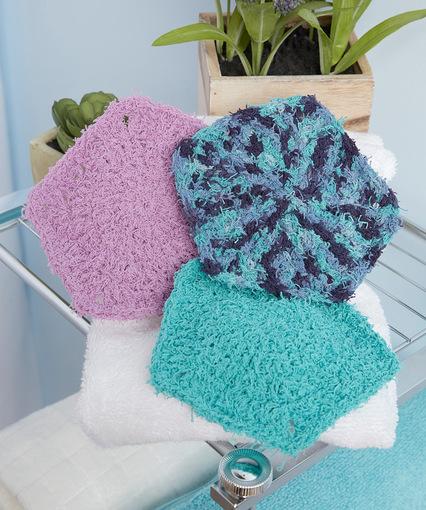 Crochet Patterns Galore Pentagon Scrubby