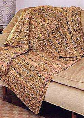 Crochet Patterns Galore - Openwork Afghan