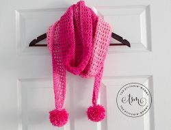 Pretty in Pink Angled Scarf