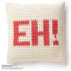 Croch-Eh Throw Pillow