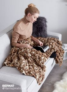 Wavy Ridge Crochet Blanket