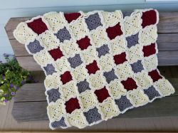Rag Quilt Style Baby Blanket