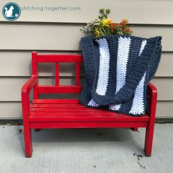 Navy Stripes Bag