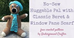 No-Sew Huggable Pal with Beret and Scarf