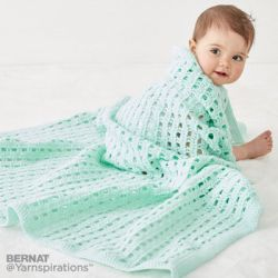 Crochet Happy Baby Blanket