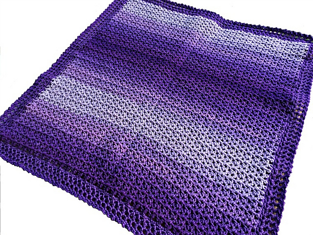 Crochet Patterns Galore Easy Ombre Baby Blanket