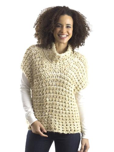 Free Crochet Pattern For Sweater Vest : Crochet Patterns Galore - Cowl Vest