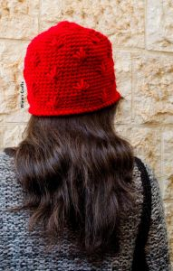 Red Spikes Beanie
