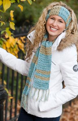 Crochet Patterns Galore Warm Amp Shine Scarf Amp Headband