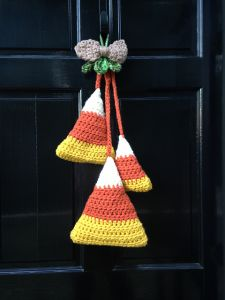 Fall Door Hanging - Candy Corn