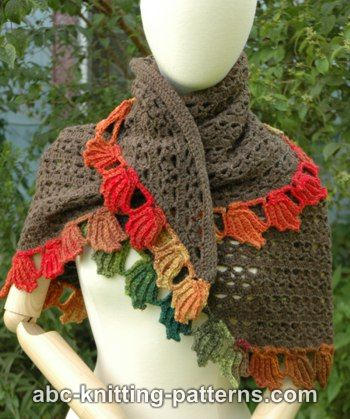 Crochet Patterns Galore - Fall Leaf Stole