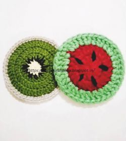 Kiwi and Watermelon Coasters