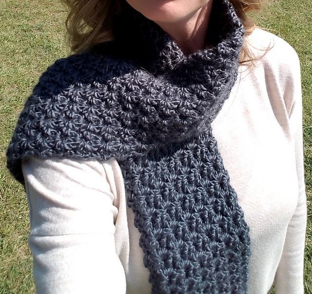 Crochet Patterns Galore - Stormy Waters Infinity / Scarf