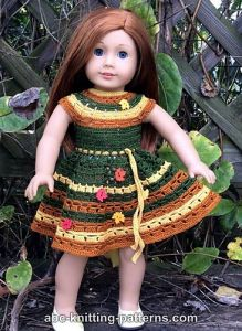 American Girl Doll Autumn Lace Dress