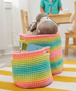 Striping Fun Baskets