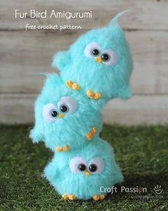 Fur Bird Amigurumi