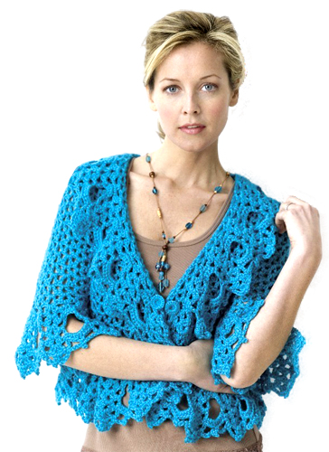 Free Knitting Patterns Lace Jacket : Crochet Patterns Galore - Lacy Jacket