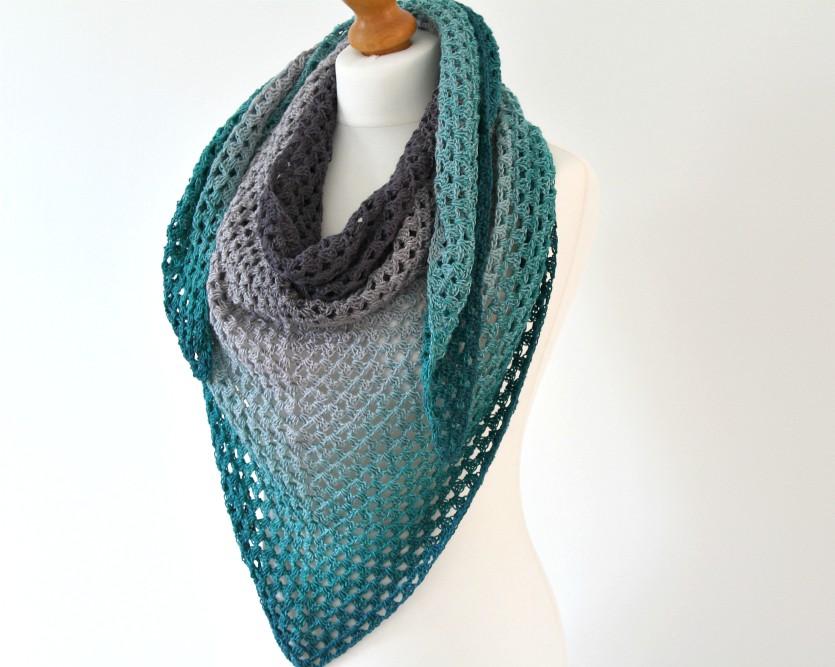 Crochet Patterns Galore Granny Triangle Shawl
