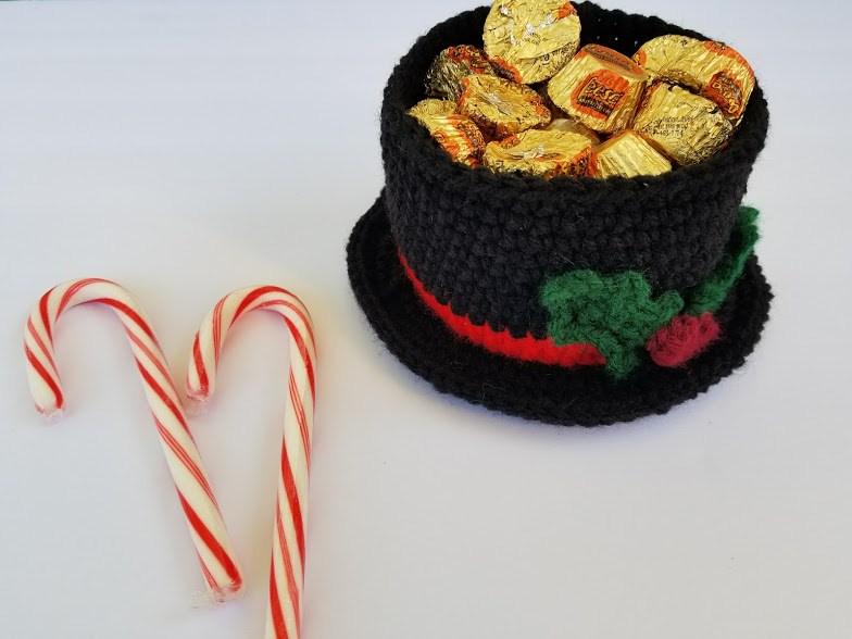 Crochet Patterns Galore Snowman Hat Candy Dish