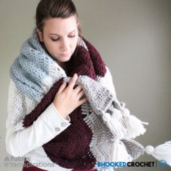 Comfy Chevron Crochet Super Scarf