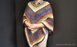 The easiest poncho you'll ever make