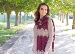 Frosted Berry Chevron Scarf