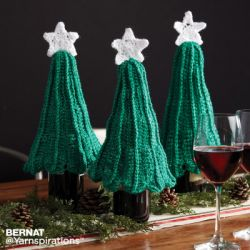Crochet Christmas Tree Bottle Topper