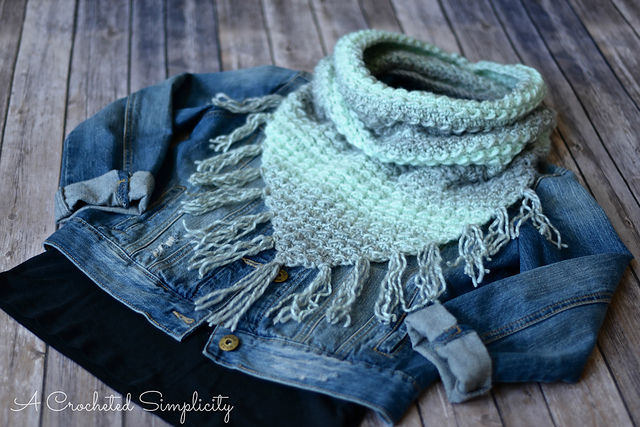 Crochet Patterns Galore Scarfie Bandana Cowl