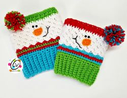 Sampler Snowman Boot Cuffs