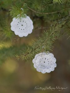 Victorian Blush Snowflake Vintage Ornament/GiftTag