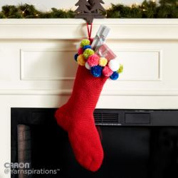 Crochet Pompom Stocking