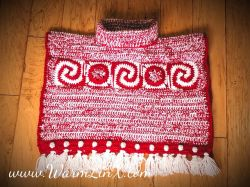 Candy Cane Car Seat Poncho