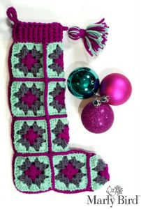 Modern Granny Square Stocking