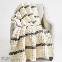 Pin Stripe Crochet Blanket