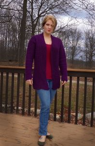 Quick Purple Cardigan