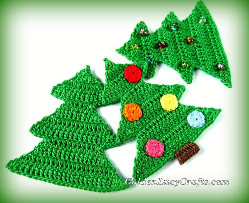 Crochet Patterns Galore Christmas Tree Ornament