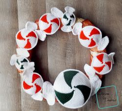 Peppermint Candies Wreath