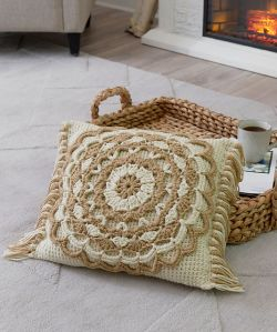 Fringed Mandala Pillow