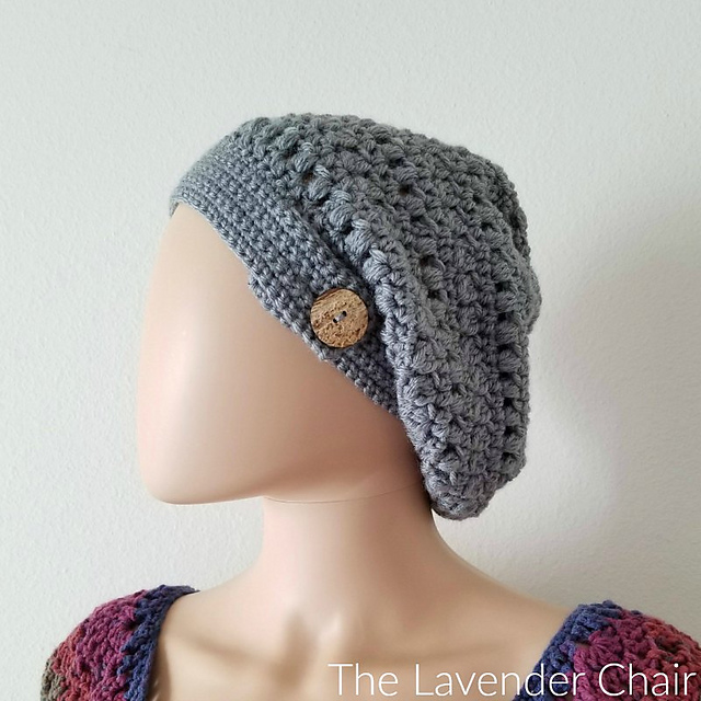 Crochet Patterns Galore Candaces Cluster And Puff Slouchy Beanie