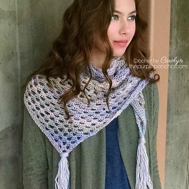 Crochet Patterns Galore Boho Triangle Scarf
