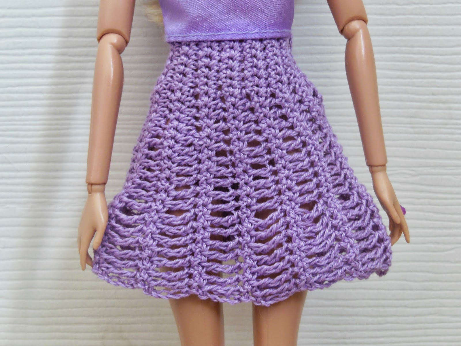 Crochet Patterns Galore - Barbie Flared Skirt