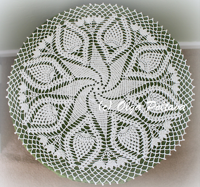 Crochet Patterns Galore Swirl And Pineapples Doily