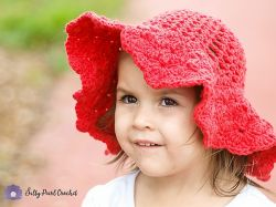 Scalloped Toddler Beach Hat