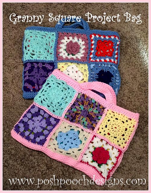 Crochet Patterns Galore - Big Granny Square Bag