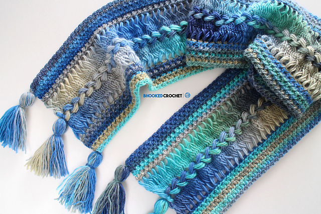 Crochet Patterns Galore Waves Hairpin Lace Scarf