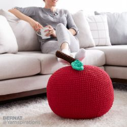 Apple A Day Pouf
