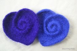 Felted Swirly Heart