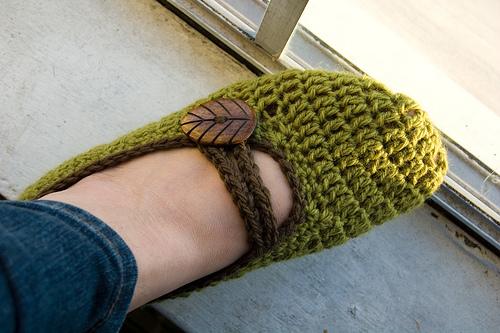 Crochet Patterns Galore Crocheted Mary Jane Slippers