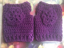 Flower Power Fingerless Mittens
