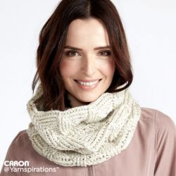 Twist 'n' Shout Tweed Crochet Cowl